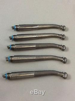 Midwest Tradition Lever Fiber Optic Dental Handpieces Lot of 5 #1, Dental Tools