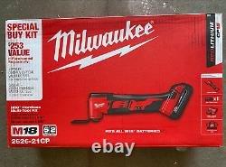 Milwaukee 2626-21CP M18 Oscillating Multi-Tool Kit with Battery, Charger, Bag