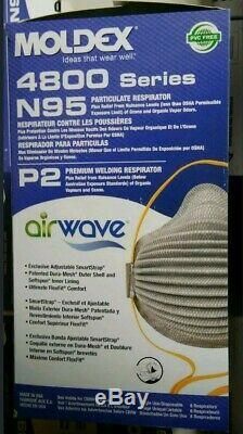 Moldex 4800 AirWave Face Cover withAdjustable Strap (Brand New Box- 8) Exp 07/2024