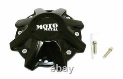 Moto Metal MO479L214GBO Set of 4 Gloss Black MO970 Center Caps withScrews & Tool