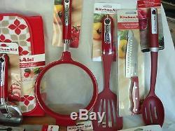 NEW 38 Piece KitchenAid Utensil Set Tools Lot Strainer Peelers + FREE SHIP