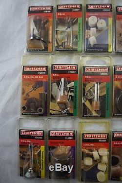 NEW IN BOX! HUGE LOT of 45 Craftsman Rotary Tool Attachments Accessories Dremel