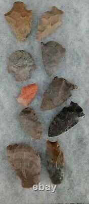 Native American Arrowheads Points Tools Collection Lot of 39 Indian Artifacts