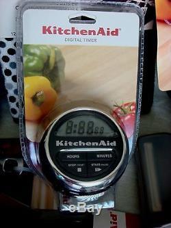New 31 Piece Black KitchenAid Utensil Set Tools Lot Timer Grater + FREE SHIP