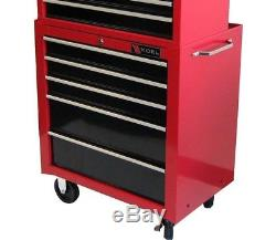 New Excel 26 Top Chest and Roller Cabinet Red Combo Garage Work No Tax Xmas