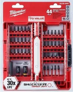 New Milwaukee 2401-20 12V Lithium-Ion Cordless 1/4 in Hex Screwdriver & Bit Set
