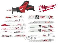 New Milwaukee 2420-20 M12 Hackzall Reciprocating Sawzall & 7 Sawzall Blades