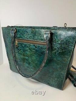 Nwt Patricia Nash Leather Zancona Tote & Valentia II Wallet Butnished Tooled