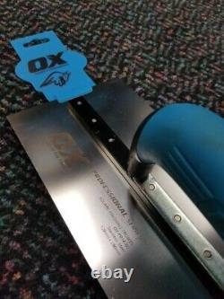 Ox Tools Pro 120x356mm & 120x280mm Square Finishing Trowel Set