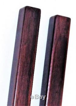 PAIR Rosewood Scroll Weights Chinese Scholar Calligraphy Tools c. 1850-1899 / 13