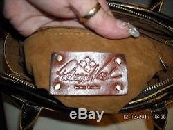 PATRICIA NASH Metallic Rose Tooled Paris Satchel/Cross-body + Dust Bag MSRP $169