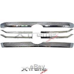 Platinum Chrome Grille Overlay Bezel For 14-17 Toyota Tundra Crew Cab Sr Sr5