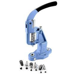 Pack hand press machine 3 tools dies for double cap tubular rivets set kit S038