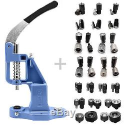 Pack of 19 tools dies and hand press for eyelets rivets press fasteners set S020