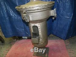 Plastic injection molding machine hopper vacuum loader stainless 14 dia. 24Tall