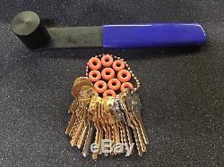 Professional Bump Key / Depth key Set of 20 keys w 10 bump rings and bump hammer