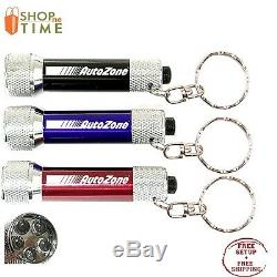 Promotional LED Flashlight Key Chain Printed with your Logo / Name / Art 100 QTY
