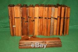 RARE 19thc Carpenters Tool Box withOrig 15 Piece Assorted Moulding Planes Inv#BL40