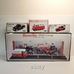 Rare Snap-On Tools 1950's Garage Display & Matching Vehicles Set 124 2002