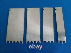 Record Wood Plane Reeding Irons 1/4 Cutters 2, 3, 4, 5 Reeds
