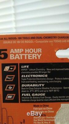 Ridgid impact wrench X4 plus 5 AH battery