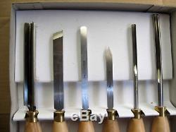 Robert Sorby 6 Pcs Set of Wood Turning Tools Wood Lathe Sheffield England