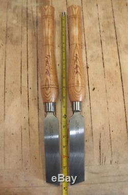 Robert Sorby Left & Right Hand Extra Heavy Duty Shear Scraper Wood Lathe Tools