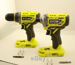 Ryobi Brushless P252 Drill & P239 Impact Driver Lot Manufacturer Refurbished