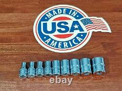 SNAP ON 1/4 DRIVE METRIC SOCKET LOT YOU GET ALL 9pcs SHIPS FREE HAND TOOLS