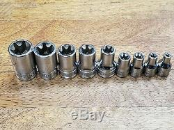 SNAP ON INVERTED TORX LOT 9 pc. E18 through E4 FREE SHIPPING MADE IN USA TOOLS