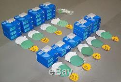 Sandpaper 6 Sanding Disc Lot, PSA (Sticky Back), 2200pc, SUNMIGHT Green Film