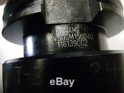 Sandvik Coromant 4 inch shell face mill Kennametal CV50 Tool holder cat 50