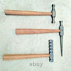 Set Of 3 Black High Quality Iron Hammers Tinsmith Useful Item