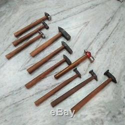 Set of 10 Black Iron Hammer Blacksmith Useful Item