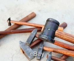 Set of 10 Heavy Small Black Iron Hammer Blacksmith General Useful Item