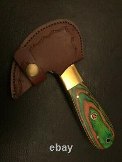 Set of 2 Custom Damascus Steel Leather Cutter-Saddler-Leather Craft Tools-QD