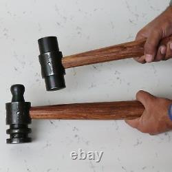 Set of 2 Heavy Iron Hammers Pin Flat Blacksmith Useful Item