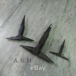 Set of 3 Antique Iron Anvil Collectible Blacksmith Tool useful