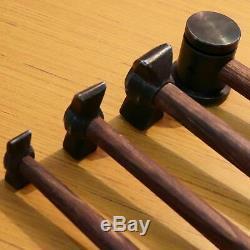 Set of 4 Heavy Iron Hammers Blacksmith Useful Item
