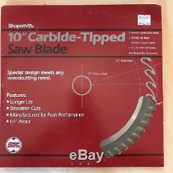 Shopsmith 10 Carbide-tipped Saw Blades Lot Of 4 No. 555001,55502,55503,517351