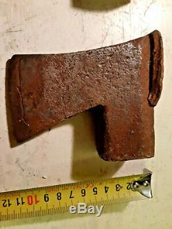 Six old vintage antique axe heads Finland, Billnas, Kellokoski, small, big