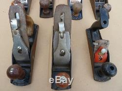 Smoothing Planes x 7 Job Lot Carpentry Woodworking Record, Acorn, Stanley etc