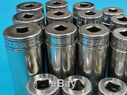 Snap On 99 Cent Tool Auction 3/8 Drive Tool Lot 60 Sockets Free Shipping