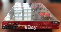 Snap-On SHDX80R 8 pc Instinct Combination Screwdriver Set Red New Sealed With Tray