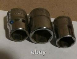 Snap On Tool 9 Pc Metric 3/8 Dr Shallow Sockets FSM1 SERIES 6Pt PLUS 3 EXTRAS
