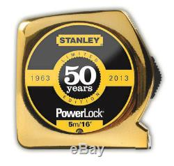 Stanley Power Lock 5M Gold Tape Measure 50th SPECIAL Anniversary- (Limited)