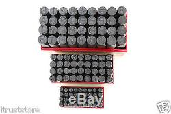 Steel Stamping Set 3/8 1/4 1/8 Letter Number Punch Marking Jewelers Metal New
