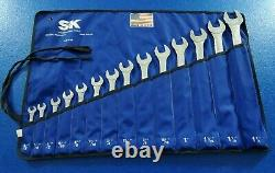 Super Heavy Duty Mint Sk Combination Wrench Set 3/8 To 1-1/4 P/n 1714 USA Lot