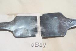 T & J Dixon #14 Pricking Irons forward and reverse Vintage British Tools 2 pcs