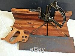 TWO Antique Union Hardware Perfection Miter Box Model 554 & Unmarked